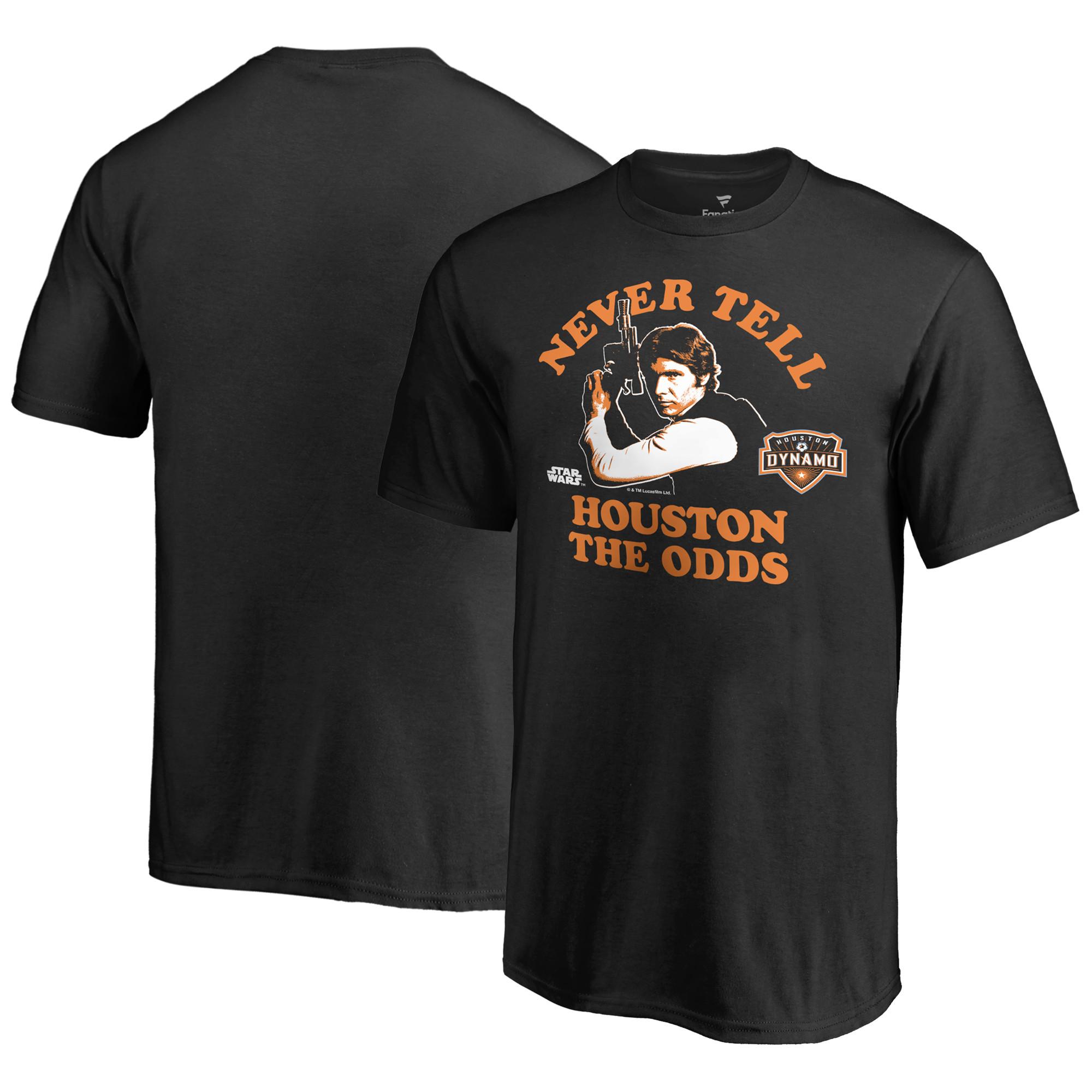 Houston Dynamo Fanatics Branded Youth Star Wars Never Tell the Odds T-Shirt - Black