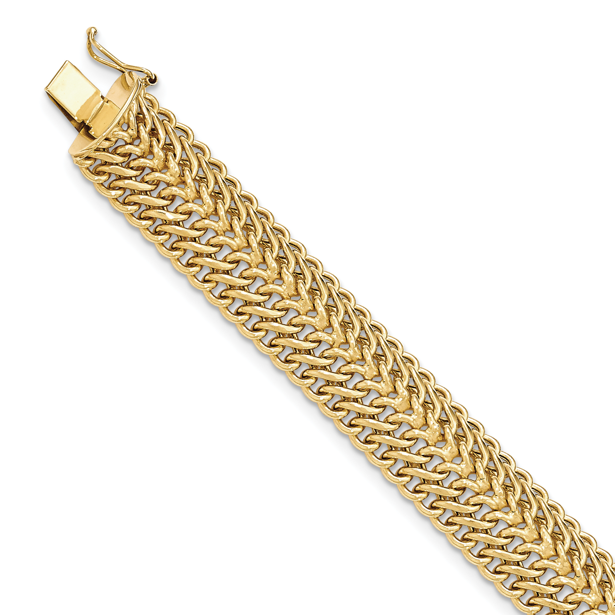 14k Yellow Gold 7.5 Inch Link Bracelet Fine Jewelry Gifts For Women For Her - image 4 of 4