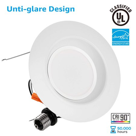 5/6 Inch Dimmable Retrofit LED Recessed Downlight, 5000K -
