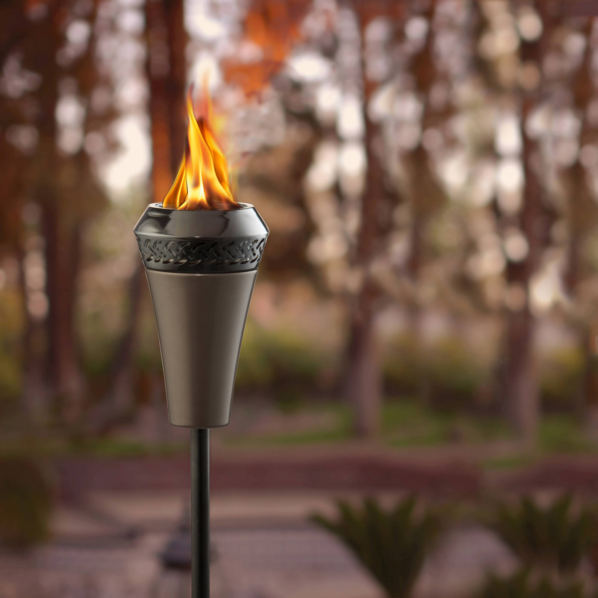 TIKI® Brand Island King® Large Flame Torch - Gun Metal