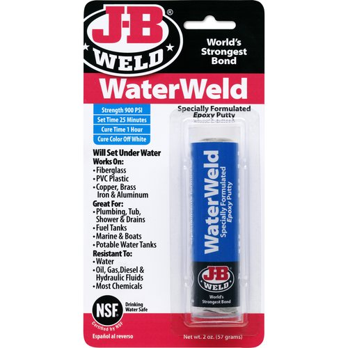 JB Weld WATERWELD Epoxy Stick, 2 oz.