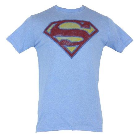 Superman - Superman (DC Comics) Mens T-Shirt - Classic Distressed ... d3c3d2ba09