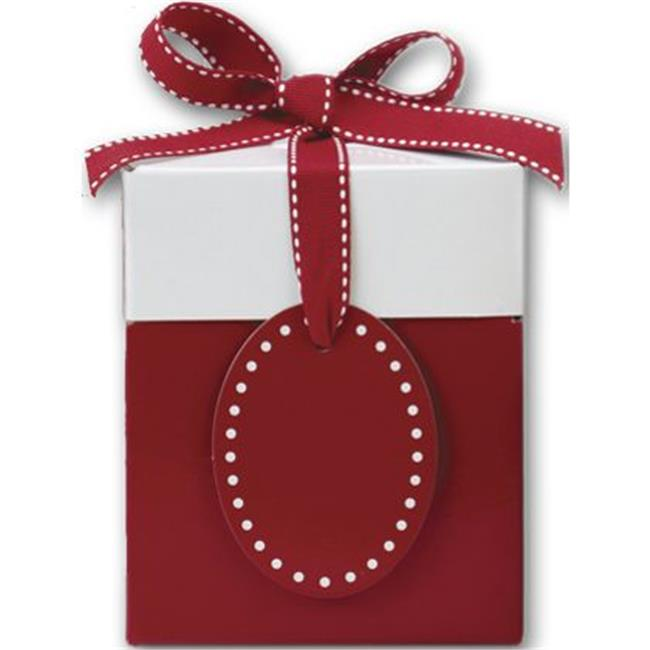 Deluxe Small Business Sales 4129-0837 4. 75 x 4 x 4 inch Giftalicious Pop-Up Boxes, Ruby Red