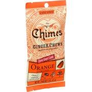 Chimes Ginger Chews - Orange Citrus - 1.5 Oz - Case Of 12