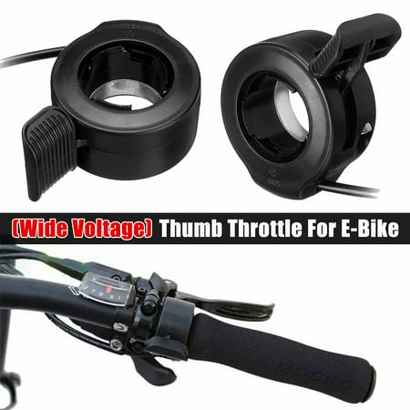E-Bike Electric Scooter Wide Voltage Thumb Throttle Speed Control Assembly 3 Wires Compatible 30X 24V 36V 48V 60V