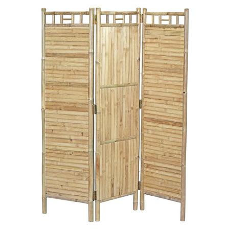 Bamboo54 Bamboo Screen 3 Panel Flat Room Divider