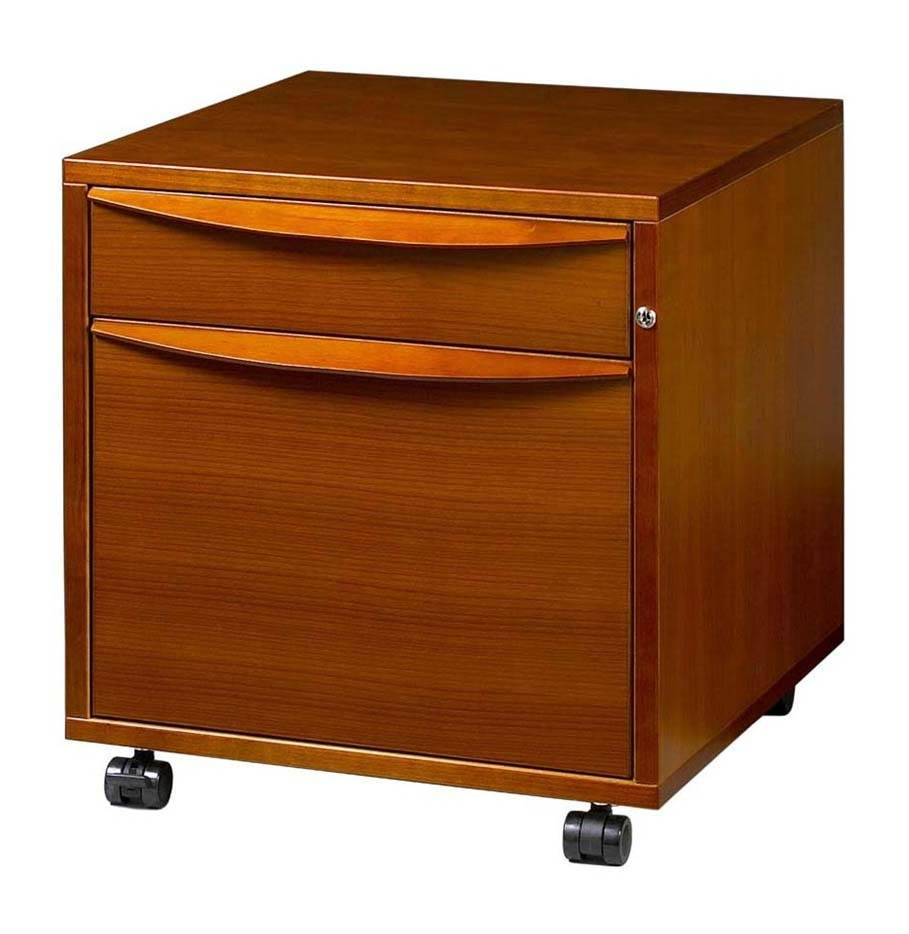 Mobile Pedestal File Cabinet (Cherry)