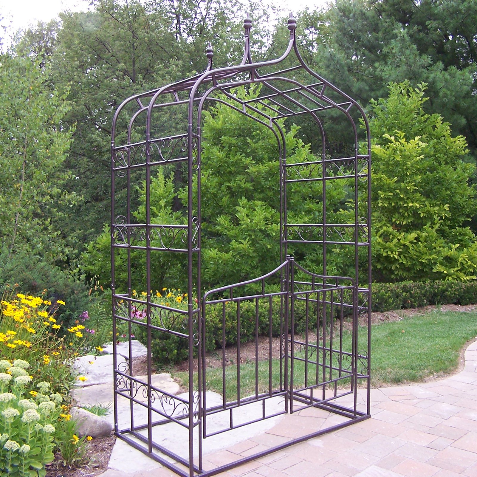Oakland Living 8.5-ft. Iron Gothic Arbor with Gate by Oakland Living