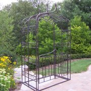 Oakland Living 8.5-ft. Iron Gothic Arbor with Gate