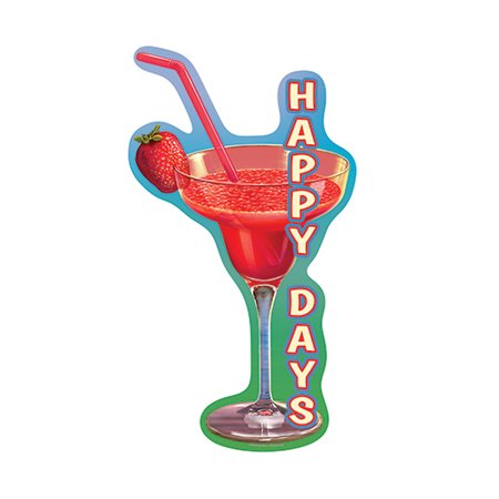 Happy Days Strawberry Daiquiri [3 Pack] of Vinyl Decal Stickers | 5