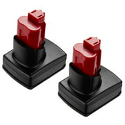 2-Pack 5000mAh 12V Replacement Battery for Milwaukee M12 48-11-2440 XC 12 Volt Milwaukee Power Tool