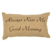 VHC Brands Always Kiss Me Good Morning Throw Pillow
