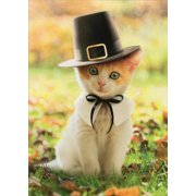 Avanti Press Pilgrim Cat Kitten Thanksgiving Card