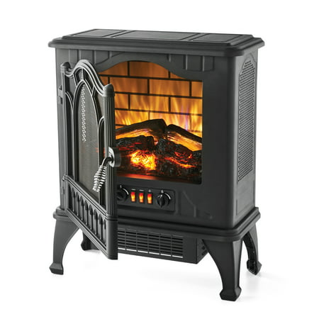 Mainstays 1500W Electric Stove Heater with 3D Flame ()