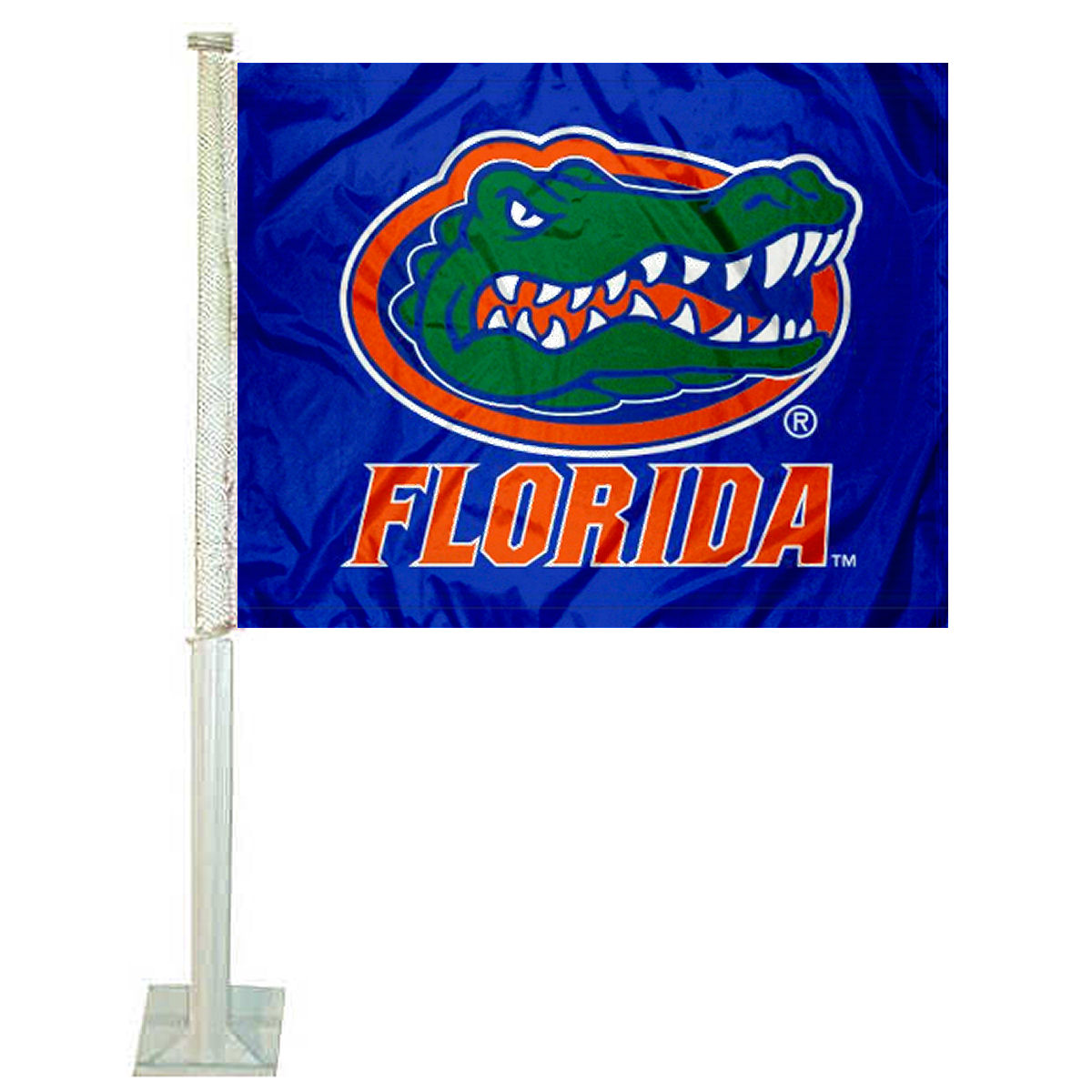 "University of Florida Blue 12"" x 15"" Car Flag"