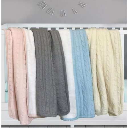 effe bebe Magnolia Cable Knit and Sherpa Baby Blanket 30