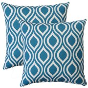 FHT Premiere Home Nicole Aquarius 17-inch Throw Pillow - Set of 2