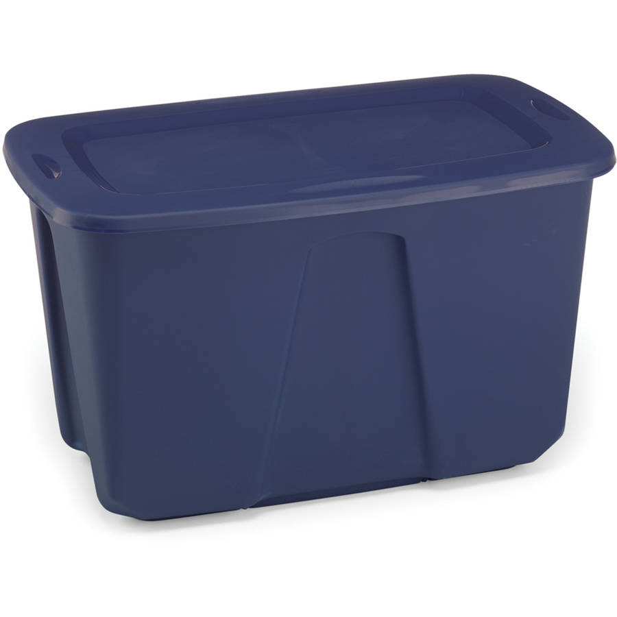 Homz 32-Gallon Storage Tote, Cobalt Blue, Set of 6