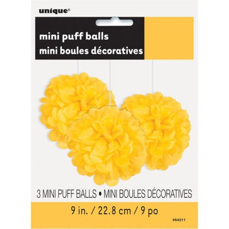 Mini Puff Tissue Party Decorations (Many colors available) 8 inch, 3pcs - image 1 de 2