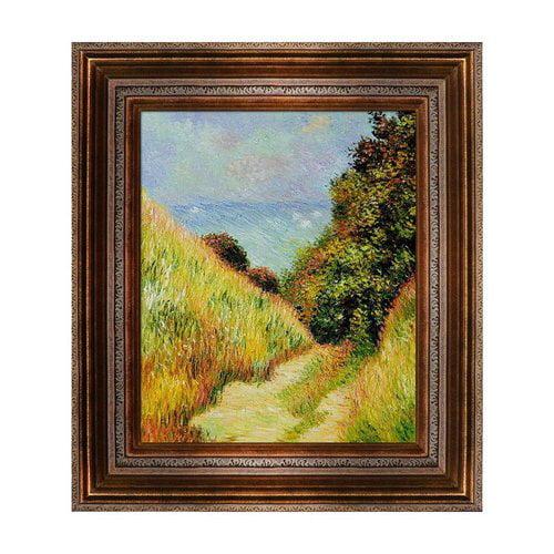 Overstock Art MON2222-FR-446AG20X24 Claude Monet - Chemin De La Cavee Pourville Framed Art