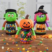 Personalized Halloween Treat Jars Available in 3 Adorable Styles