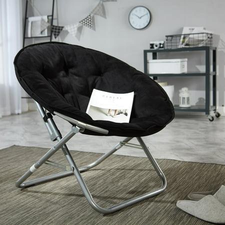 Mainstays Large Microsuede Saucer Chair Multiple Colors Walmart Com Walmart Com