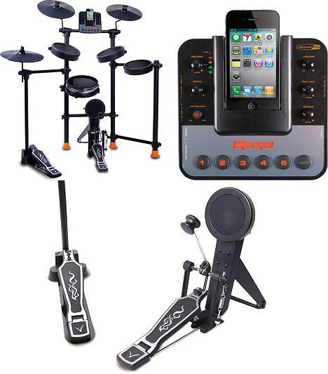 Dj Tech IROCKER All-in-one Electronic Drum Set For Ipod iphone W metronome & Real Drum... by DJ Tech