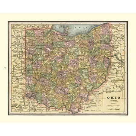 Old State Maps - Ohio - Cram's Atlas 1888 - 28.39 x (Ogio Atlas)
