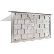 Gaf LW1L Grill Foundation Vent with 1 3/8 in lintel and Damper, 50 sq-in, Die Cast Aluminum, Mill