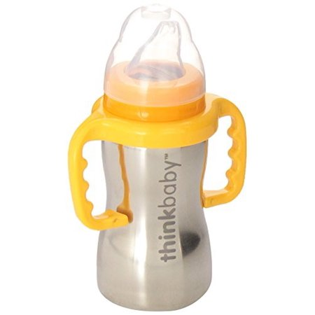Thinkbaby BPA Free Ultra Polished Stainless Steel Sippy, 9 Oz
