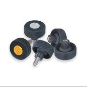 """KIPP Knurled Wheel 2.36""""L, M8 External Thread, K0261.5108X60"""