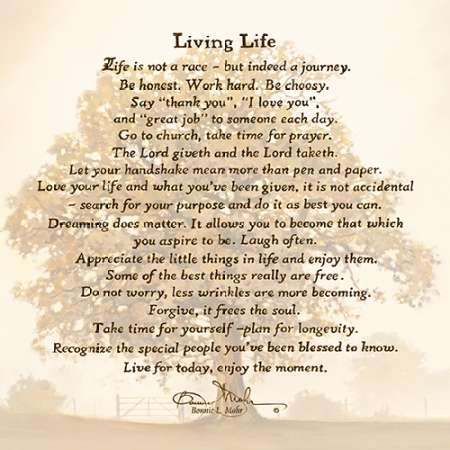 Living Life Poster Print By Bonnie Mohr 18 X 18