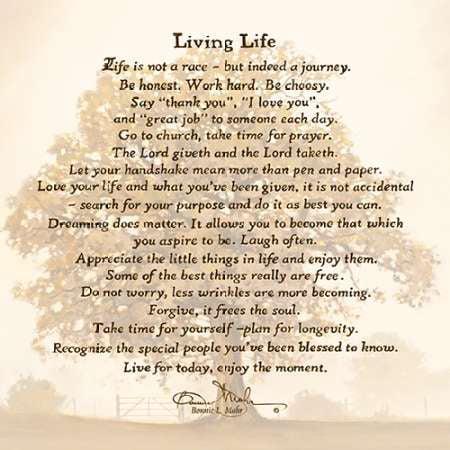 Living Life Poster Print By Bonnie Mohr 18 X 18