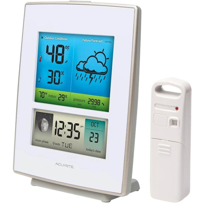 Click here to buy AcuRite Color Weather Station 330 ft Desktop, Wall Mountable by Chaney Instruments.