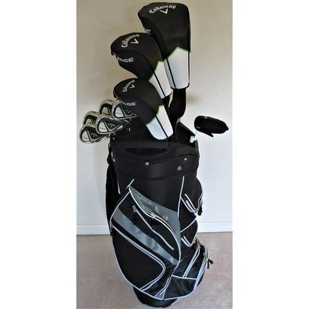 - Callaway Golf Mens Complete Golf Clubs Set Driver, Fairway Wood, Hybrid, Irons, Putter, Cart Bag Regular Flex