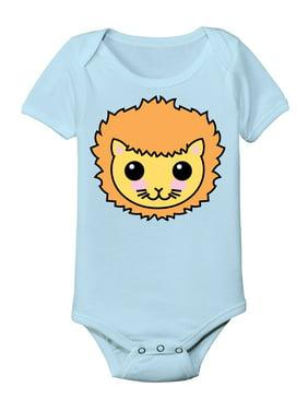 e6fe9d98ad6af Product Image Cute Lion Face Kawaii Cartoon Zoo Animal-Baby One Piece