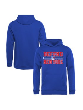 New York Rangers Fanatics Branded Youth Hometown Collection Defend Pullover Hoodie - Royal