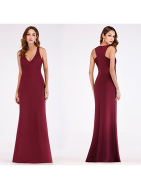 bd6307904a Product Image Ever-Pretty Women s Vintage Lace V Neck Mermaid Burgundy Long Formal  Evening Holiday Dresses for