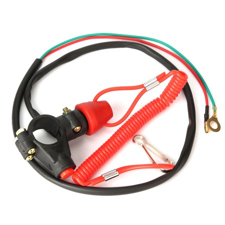 Universal Engine Emergency Stop Kill Tether Switch Lanyard for ATV Motorcycles Pit (Best Oil For Pit Bike Engine)