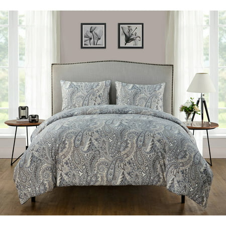 VCNY Home Palila Paisley 3-Piece Bedding Duvet Cover Set with Shams, Multiple Colors Available ()