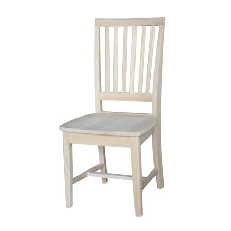 International Concepts Mission Side Chair, Set of 2, Unfinished