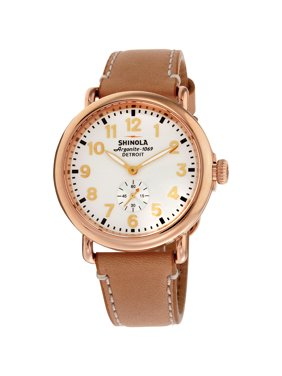 Shinola The Runwell White Dial Leather Strap Ladies Watch 10000018