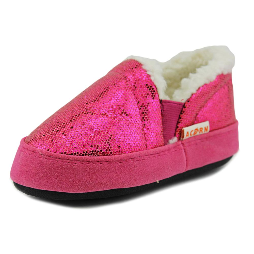 Acorn Kids Colby Gore Toddler  Round Toe Synthetic Pink Slipper