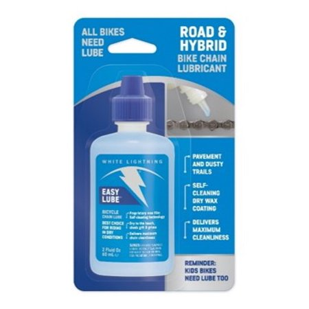 - White Lightning Easy Lube,Bicycle Chain Lubricant 2oz