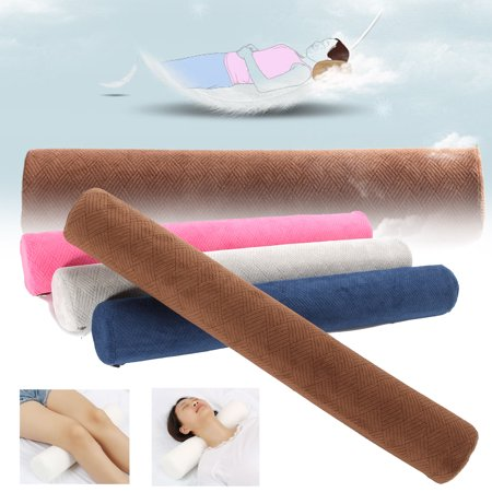 Moaere 23'' Washable Round Cervical Pillow Roll Memory Foam Bolster Neck Lumbar Support ()