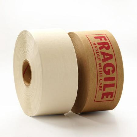 10ea 3 x 450 pm kraft 60 fragile printed kraft tape by paper