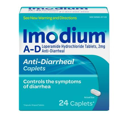 Imodium A-D Diarrhea Relief Caplets, Loperamide Hydrochloride, 24