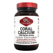 Coral Calcium 1000mg per Serving Olympian Labs 90 Caps