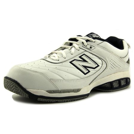 New Balance MC806 Men  Round Toe Leather White Tennis
