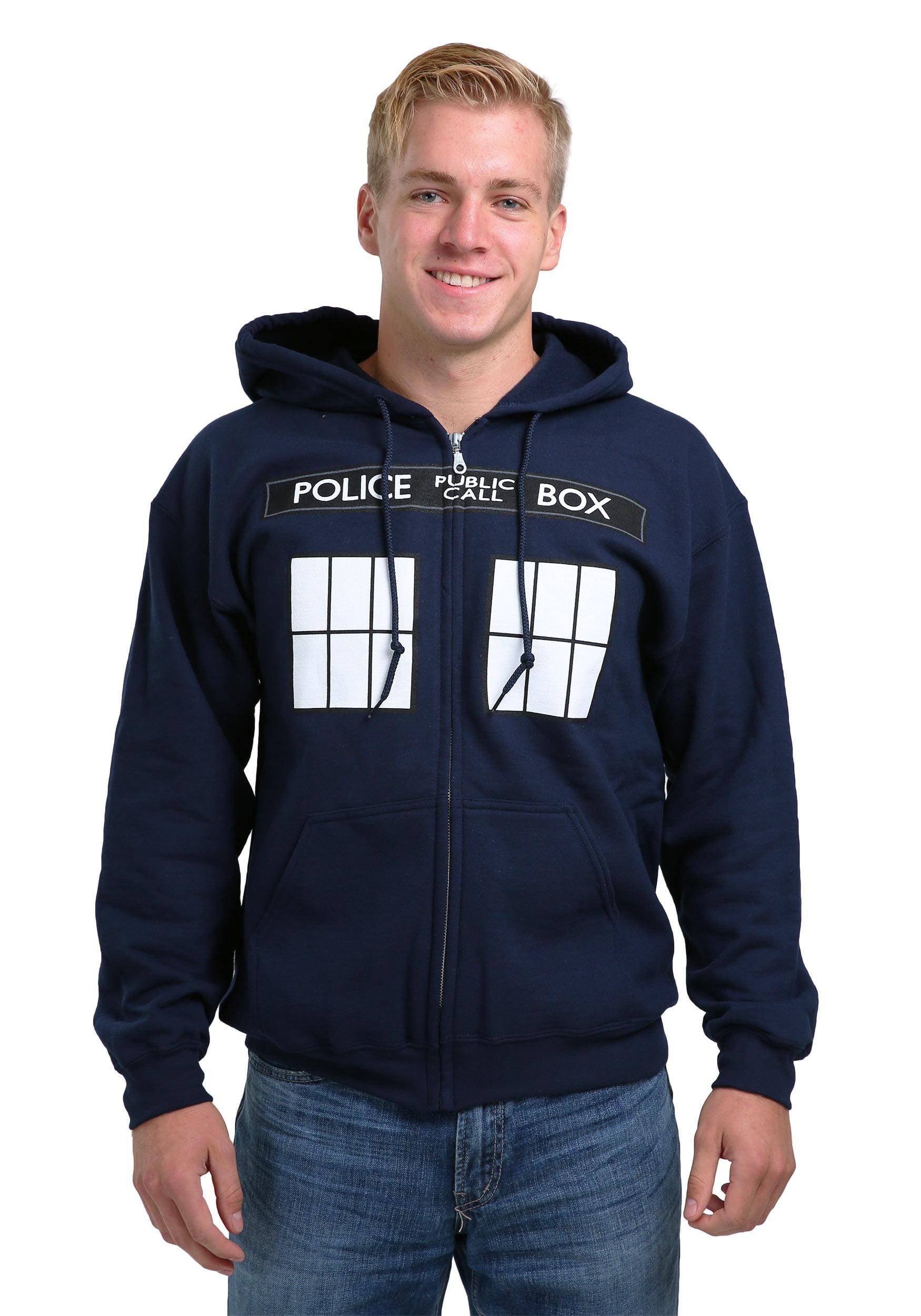 Doctor Who Tardis Costume   Casual zipper hoodies jackets outdoor